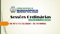 Sessões de Dezembro/2020